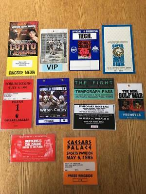 Selection Of Fight Night Passes.. All With Original Chain