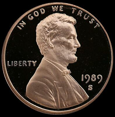 1989 S Lincoln Cent Gem Deep Cameo PROOF Penny US Mint Coin Beautiful!