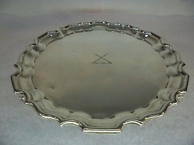 Solid Silver Waiters Tray, TESSIERS of BOND STREET, London 1931