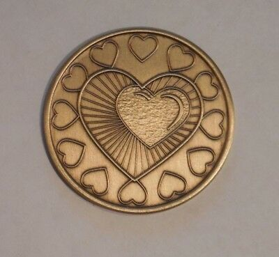 Odat Bronze Aa Al-Anon Na Alcoholics Anonymous Heart Chip Coin Token Medallion