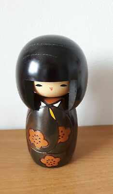 "Authentic Japanese Kokeshi - Named ""Aki"" meaning ""Autumn/fall"" Wooden Doll"
