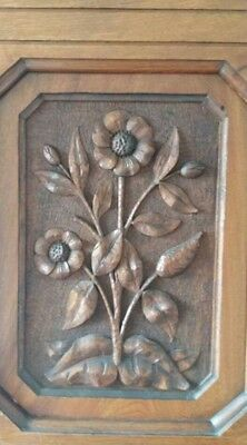 Victorian carved antique solid wood double wardrobe
