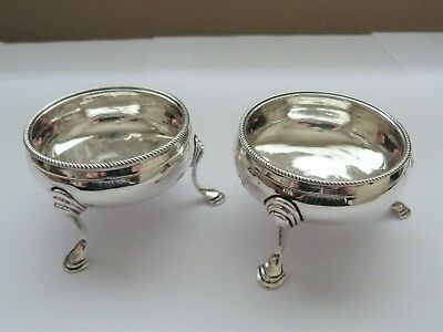 1784  - Pair Of Solid Silver Salt Cellars - Thomas Pratt & Arthur Humphries
