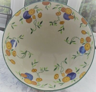Stunning Art Deco Hand Painted Royal Doulton Rossetti Large Footed Bowl