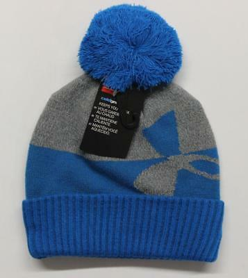 New Licensed Under Armour YOUTH/Boys Size ColdGear POM Beanie Hat   __S48