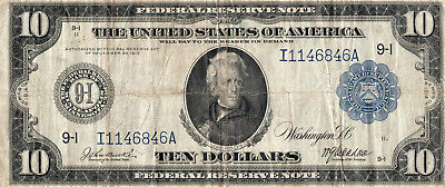 1914 $10 Minneapolis Federal Reserve Note Blue Seal