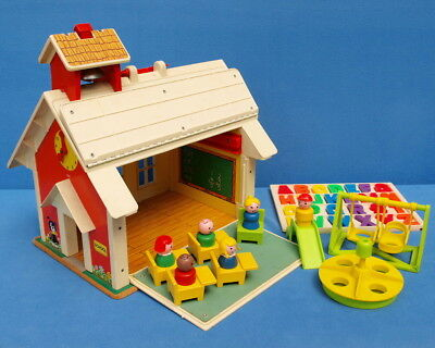 Fisher Price Play Family School 923 Haus Schule Vintage Little People
