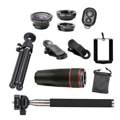 10-in-1 Lens Phone Camera Clip Universal Optical Telescope Kit Mobile Zoom