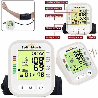 Upper Arm Blood Pressure Monitor Automatic 180 Memory voice function New