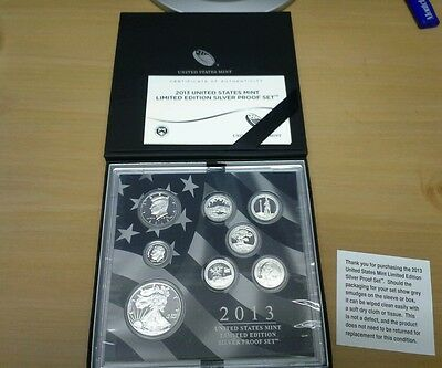 2013 United States Mint Limited Edition 8 Coin Silver Proof Set (Ls2-1)