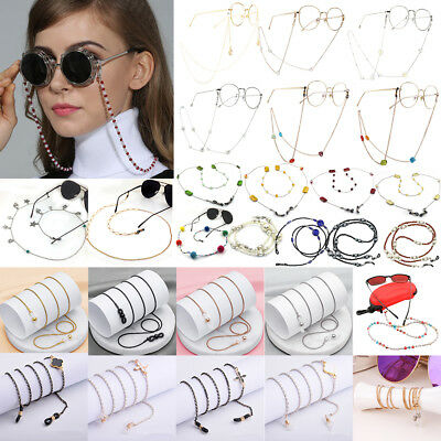 Beaded Eyeglass Spectacle Reading Glasses Chain Holder Neck Cord Necklace New
