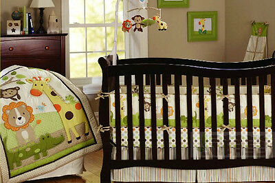 6 Piece Sunny Forest Baby Crib/Cot Bedding Set - Everything You Need!!!