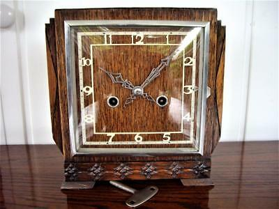 ART DECO STRIKING MANTEL CLOCK - working