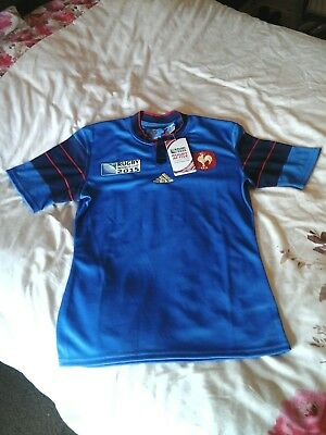 Official Adidas French 2015 Rugby World Cup Rugby Shirt-Size Medium - Bnwt.
