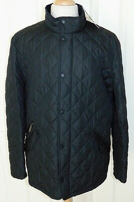 NWT Barbour Chelsea Sportsquilt  Black  Zip/Snap Jacket  XL