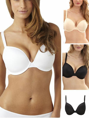 Ladies Women Beauforme Underwired Plunge Smooth Moulded Foam Padded T-Shirt Bra