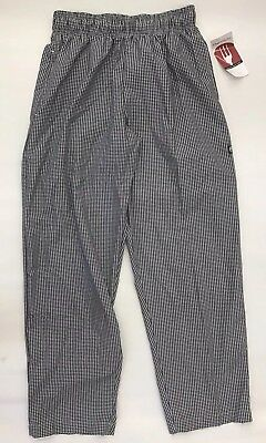 Chef Works Uniform Baggy Drawstring Checkered Pants Men's Medium NBCP-000 BNWT