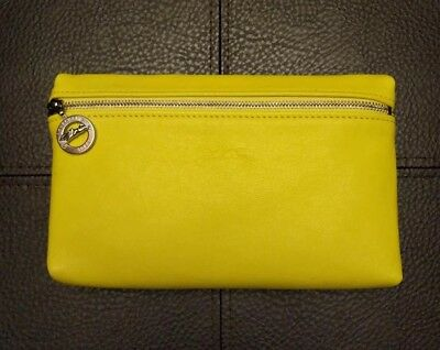 Longchamp Cuir Leather Pouch made in France