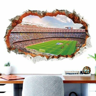 3D Decoration Wall Sticker Football Stadium Room Fashion Office Soccer Removable