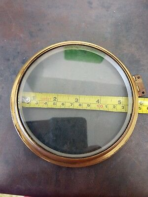 Clock BEZEL & Bevelled Glass brass ships bulkhead wall parts case