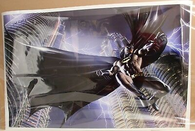 Dc Comics 2012 Batman Oversized Poster Signed By Greg Horn 55 X 40 Blacklight