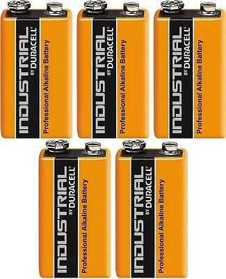 Duracell Industrial Alkaline 9V MN1604 PP3 6LR61 Battery - Pack of 5