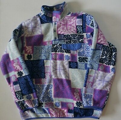 Women's Patagonia Lightweight Sychilla Snap-T pullover Size XL Makai violet blue
