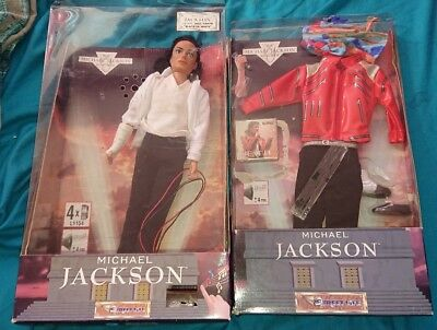michael jackson official black or white singing doll and beat it outfit 1995