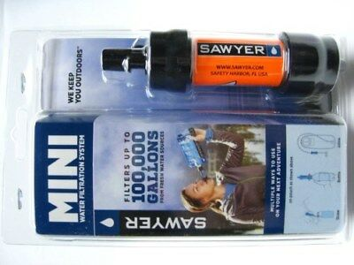 Sawyer Orange Portable Mini Water Filter Filtration System w/ 16 Oz Pouch SP103