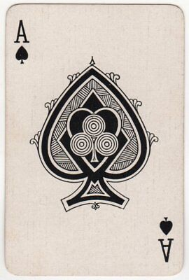 Single Playing Card - Ace of Spades - Hypnotic Design