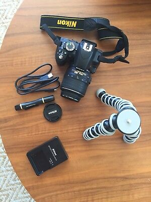 Nikon D3100 18-55mm - Black - Digital SLR Camera with bag & accessories