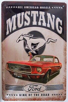 Ford Mustang 1967 Usa , Blechschild