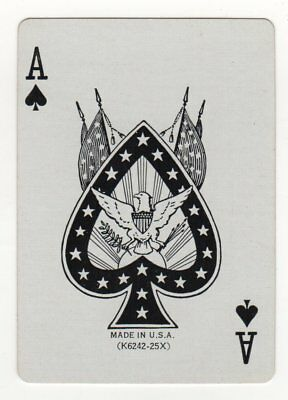 Single Playing Card - Ace of Spades - American Eagle