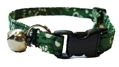 Dark Hunter Green Bandana Cat or kitten Collar cowboy country st patricks day