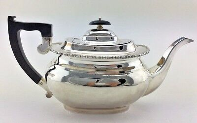 716g Solid Silver Antique Style 1966 Tea Pot Viners LTD