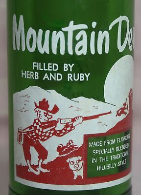 RARE - VINTAGE - MOUNTAIN DEW  10 0z. Bottle - Filled By: HERB & RUBY - CANADA