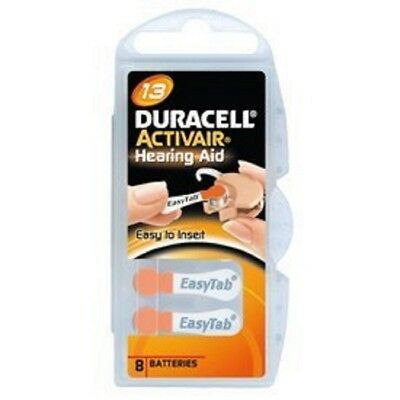 Duracell Activair Mercury Free Hearing Aid Batteries Size 13 (40-160). Exp-2023