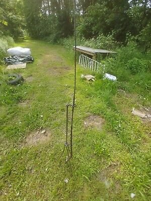 Antique Lightning Rod with Tripod Stand old cast iron farm  barn decor