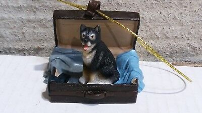 Victorian Trading Co Travel Companion Husky Dog Ornament Free Ship 24D
