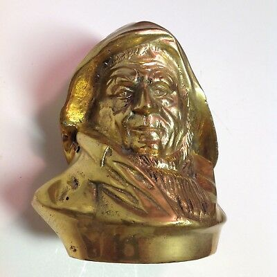 VTG Old Salt Fisherman Gilt Brass Single Figurine Bookend