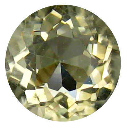 0.48 ct AAA Fair Round (5 x 5 mm) Yellow Heliodor Beryl Natural Loose Gemstone