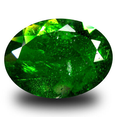 3.06 ct Lovely Oval (11 x 9 mm) Green Chrome Diopside Natural Loose Gemstone