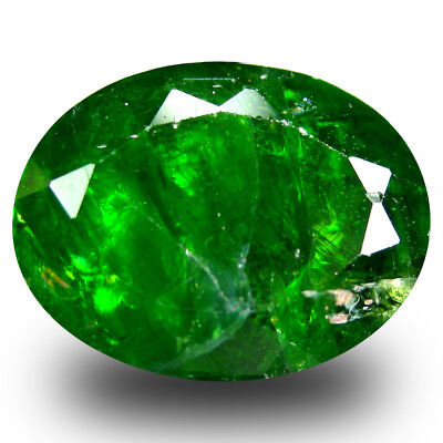 5.37 ct Spectacular Oval Shape (12 x 9 mm) Green Chrome Diopside Loose Gemstone
