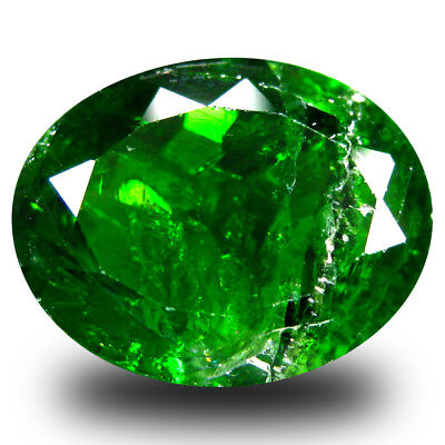 6.39 ct Good-looking Oval Shape (14 x 11mm) Green Chrome Diopside Loose Gemstone