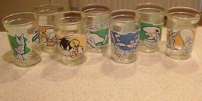 Welch's 1994 Looney Tunes Collector Series Glasses 1, 4, 6, 7, 8, 10 of 12 in P
