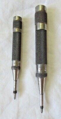 "(2) Starrett Automatic Center Punches - No. 18AA and ""Made for Amp"""