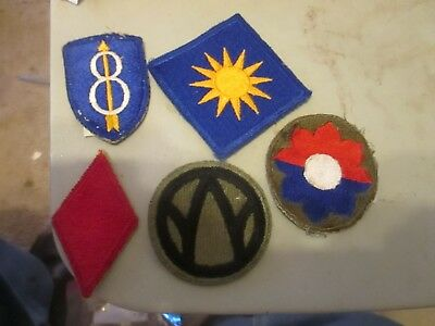 u,s, army world war 2 8TH INFANTRY, 40TH INFANTRY 9TH DIVISION,89TH AND 5TH INF.