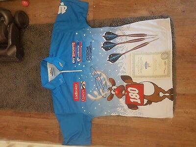 Phil'The Power'Taylor matchplay Darts also shirt Autograph & other memorabilia