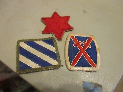 u,s, army world war 2 10TH MOUNTAIN 6TH DIVISION,3RD DIVISION ALL EXCELLENT COND