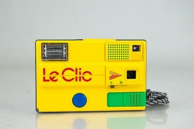Near Mint Le Clic Disc Camera with Retro Vintage 1980s Funky Free Shipping